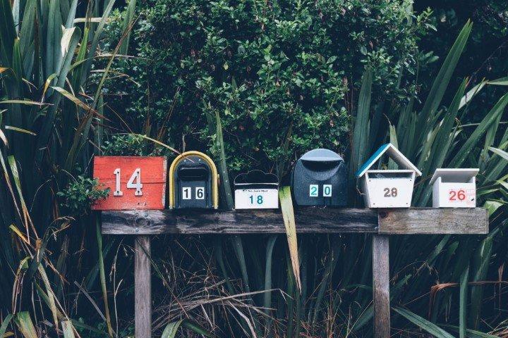 cassette delle lettere di diverse forme