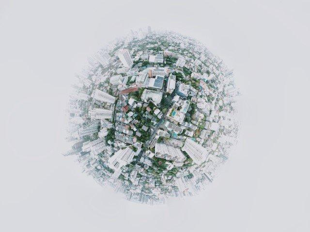 fotografia 360 gradi città